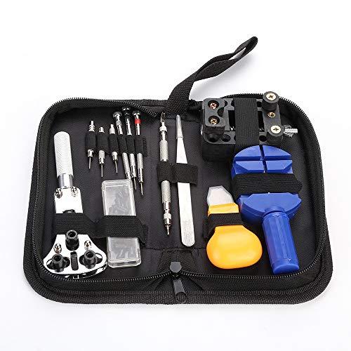 SqsYqz Uhr Uhrmacher Repair Tool 13-teiliges Set Hochwertige LedertaschenverpackungUhr Uhrmacher Repair Tool 13-teiliges Set Hochwertige Ledertaschenverpackung -