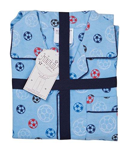Kinder / Kleinkinder Baumwolle Flanell Pyjama Set ~ Fußball oder Unicorns ~ 2-6 Jahre - Blau Fußbälle, Größe 98 (Zoll Fußball 5)