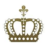 Krone 28cm + Lilie gold metallic König Königin Aufkleber Tattoo die cut Deko Folie