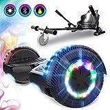 GeekMe Gyropode 6.5 Pouce avec hoverkart Scooter électrique Auto-équilibré Bluetooth Intégré Moteur 700W pour Enfants et Adultes