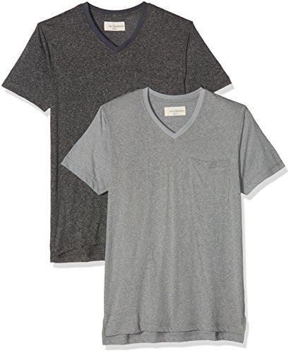 Mick Morrison Herren T-Shirt 2er Pack, Schwarz (Schwarz Melange/Dunkelgrau Melange 071), X-Large (Essential Jersey-oberteile)