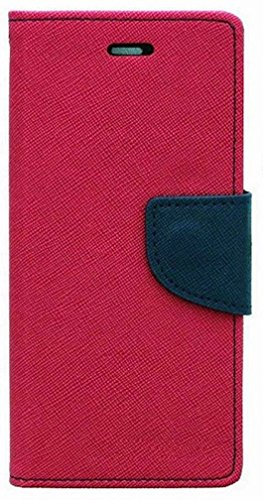 RJR MERCURY GOOSPERY WALLET STYLE FLIP BACK CASE COVER FOR MICROMAX CANVAS 2 COLORS A120-PINK BLUE  available at amazon for Rs.199