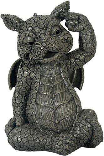 Figure de jardin Dragon grattant l'oreille