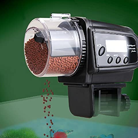 Gearmax® Automatic Pet Fish Feeder Dispenser with LCD Display Timer And Anti-Clogging