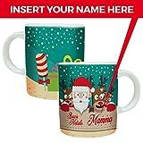 MP CREATIVE SRL Tazza Mug Natalizia Natale Personalizzata con Nome Tazze Personalizzate