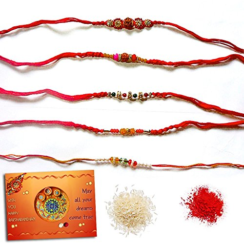 Snapgalaxy Rakhi Set of 5 Pc 22158