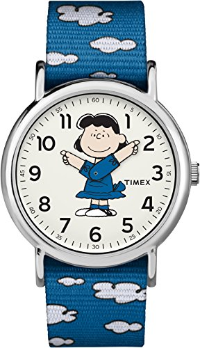 Timex Unisex TW2R41100 Weekender x Peanuts: Charlie Brown Nylon Slip-Thru Strap Watch (Charlie Brown Erwachsenen)