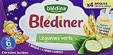 Blédina Blédiner Céréales Lactées aux Légumes Verts dès 6 Mois 4x250ml - lot de 3