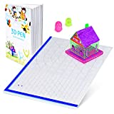 3D Printing Pen Mat with Basic Template, with 3D Pen Books and 2