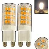 2x G9, Mini LED, 3,5W, 3000K, blanco cálido 20SMD 360° Iluminación Luz de ahorro de energía bombilla lámpara foco luz bombilla