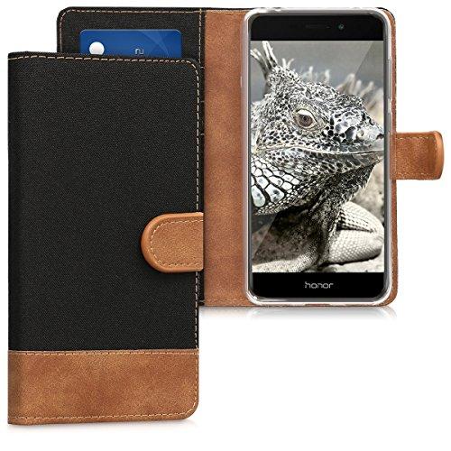 kwmobile Huawei Honor 6C Pro Hülle - Kunstleder Wallet Case für Huawei Honor 6C Pro mit Kartenfächern & Stand