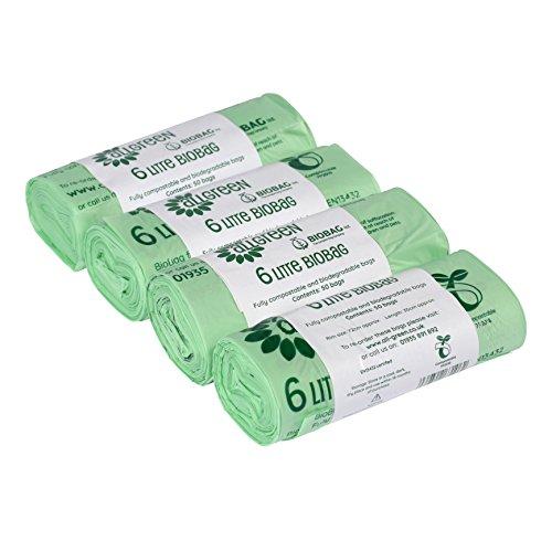 All-Green 6 Liter kompostierbarer BioBag Küchenmüllsack, 200 Müllsäcke