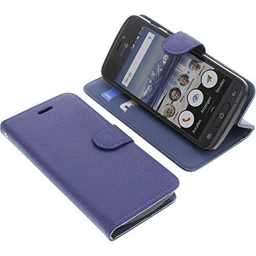 Tasche für Doro 8040 Book Style blau Schutz Hülle Buch