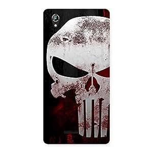 Stylish Bleed Red Skull Back Case Cover for Lava Iris 800