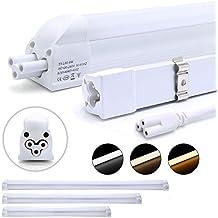 2 piezas DM T5 G5 60cm Tubo LED lámpara fluorescente 8W 810lm Blanco frío(6000-6500K) ,Ángulo de haz 160°, cubierta blanca de la leche, ambientalmente tubos LED con RoHs, CE certificado
