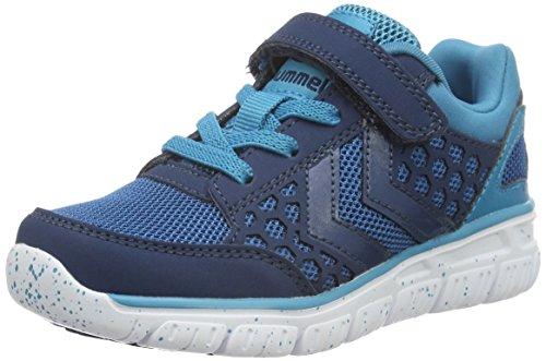 hummel Unisex-Kinder Crosslite Sneaker JR Hallenschuhe, Blau (Poseidon), 30 EU