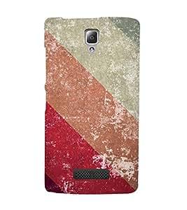 Slant Line Color Pattern 3D Hard Polycarbonate Designer Back Case Cover for Lenovo A2010 :: Lenovo A2010 4G
