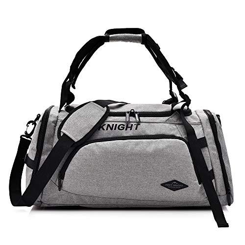 Huanxin Sport-Sporttasche, 35 l wasserdichte, Faltbare Taschen, mit Schuhfach, für Unisex Weekend Daypack Große Reisetasche,b