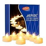 AGPtek 60 PCS Flameless LED Tealights Candles - Warm white