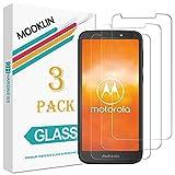 MOOKLIN Panzerglas Displayschutzfolie für Motorola Moto E5 Play, 9H Härte, Anti-Kratzen, Anti-Bläsche, [3 Stück]