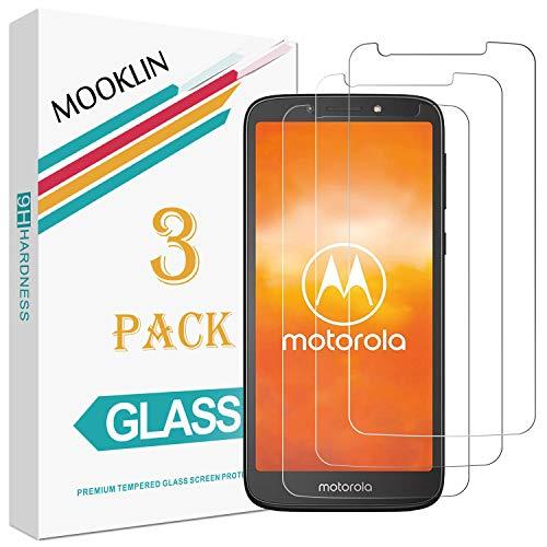 MOOKLIN Panzerglas Bildschirmschutzfolie für Motorola Moto E5 Play, 9H Härte, Anti-Kratzen, Anti-Bläsche, [3 Stück]