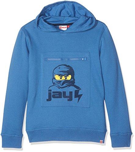 LEGO Wear Jungen Lego Boy Ninjago Saxton 602-Sweatshirt Blau (Blue 552), 116 (Ninjago Sweatshirt)