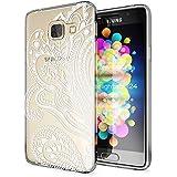 Samsung Galaxy A3 2016 Coque Protection de NICA, Housse Motif Silicone Portable Premium Case Cover Transparente, Ultra-Fine Souple Gel Slim Bumper Etui pour A3-16, Designs:Artificial Flowers