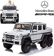 Dorsa Licensed Mercedes Benz AMG G63 6x6 Kids Ride On Car with 2.4G Remote Control, 12V 4 Motors, Stroller Fun