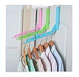 Lalang Multifunktions Portable Folding Clothes Hanger Rack Wand-Kleiderständer Geeignet für Wohnzimmer, Bad, Reisen (Weiß)