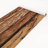 Klebefolie Holzoptik - Holzwand Flamed - Dekorfolie Holz, Dekorfolie, Möbelaufkleber, DIY Designfolie, Sticker, Meterware, Größe HxB: 50cm x 50cm