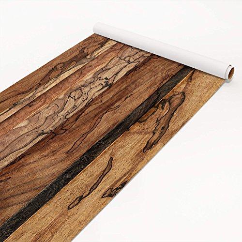 Klebefolie Holzoptik - Holzwand Flamed - Dekorfolie Holz, Dekorfolie, Möbelaufkleber, DIY Designfolie, Sticker, Meterware