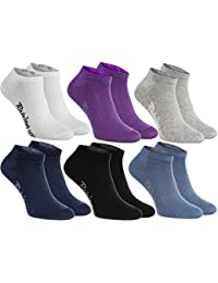 Rainbow Socks 6, 9 o 12 pares de calcetines cortos en 12 colores de moda producidos en la UE, la alta calidad de algodón certificado Oeko-Tex, tallas: 36, 37, 38, 39, 40, 41, 42, 43, 44, 45 46 by