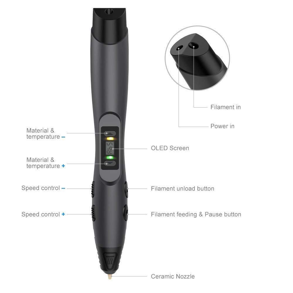 Stylo-3D-Tecboss-3D-Pen-Cratif-Avec-cran-LCD