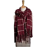 Locura® Nuova collezione - Autunno/Inverno 2016 - Moda donna - Sciarpa a maglia con frange in lana - 4 colori - elegante scatola regalo inclusa