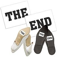 """Shoe stickers """"The End"""" 2 Stück - Schuh Aufkleber, Wedding Touches Sticker, Schuhsticker - Aufkleber für Hochzeitsshuhe preisvergleich bei billige-tabletten.eu"""