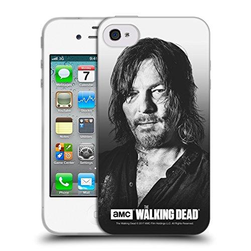 Offizielle AMC The Walking Dead Negan Gefilterte Porträts Soft Gel Hülle für Apple iPhone 5 / 5s / SE Daryl