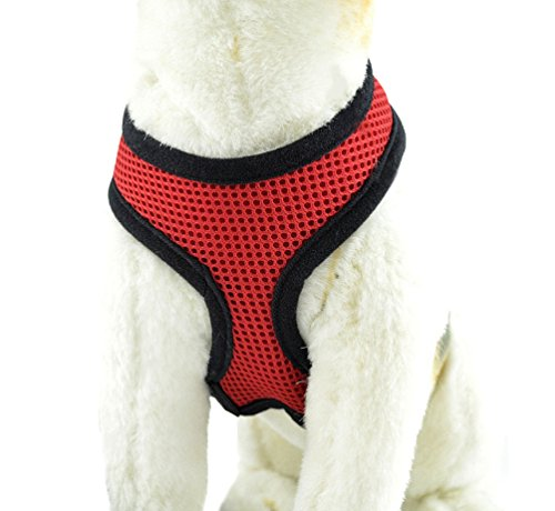 Kontrolle Tier Kostüm - YiJee Haustier Hund Sommer Bekleidung Sicher Kontrolle Hundegeschirr Welpen Vest Harness Rot XS
