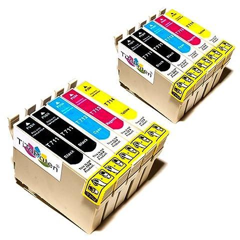 10x Kompatible Druckerpatronen - Ersatz für T0715 - Cyan / Magenta / Gelb / Schwarz - PATRONEN MIT NEUESTEN CHIP - Epson Stylus B40W BX300f BX310FN BX600FW BX610FW D120 Network D78 D92 DX400 DX4000 DX4050 DX4400 DX4450 DX5000 DX5050 DX6000 DX6050 DX6050EN DX7000 DX7000F DX7400 DX7450 DX8000 DX8400 DX8450 DX9400F Wifi Office BX510 SX600FW S20 S21 SX100 SX105 SX110 SX115 SX200 SX205 SX210 SX215 SX218 SX400 SX405 SX410 SX415 SX510W SX515W