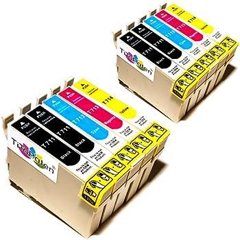 10x Epson Stylus SX110 Kompatible Druckerpatronen - Cyan / Magenta / Gelb / Schwarz - PATRONEN MIT NEUESTEN CHIP