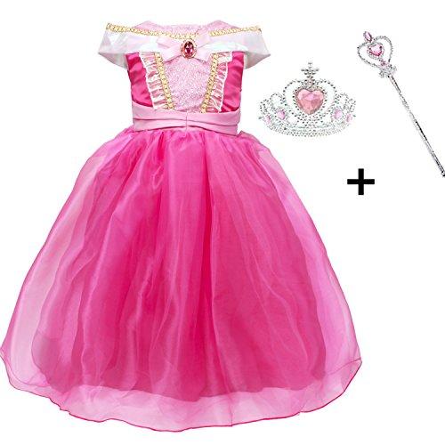 Vestido Niña Princesa, LiUiMiY Disfraz infantil de Princesa Rosa para