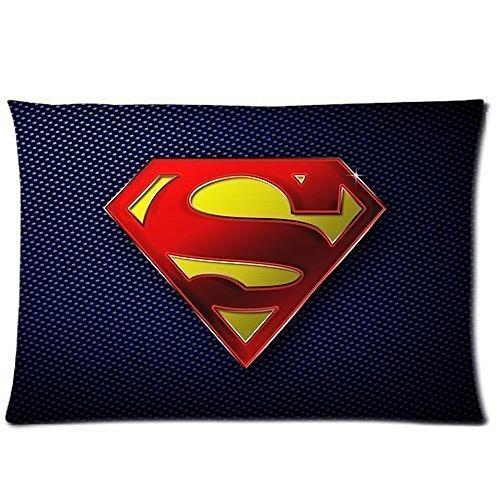 Custom fumetti di Superman federa Morbido con Cerniera Throw Pillow Cover cuscino Custodia fasfion Design stampata su due lati 50,8x 76,2cm