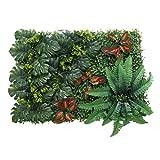 Non-brand Künstliche Seide Kunststoff Laub Pflanzen Wandtafeln Hochzeit - Rote Blätter