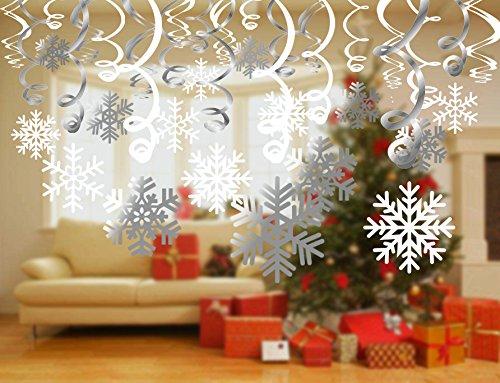 Howaf fiocchi di neve di natale decorazione 30pcs for Decorazioni da appendere al soffitto