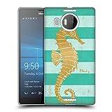 Offizielle Paul Brent Gold Seahorse Küsten Soft Gel Hülle für Microsoft Lumia 950 XL