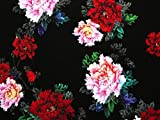 Floral Digital Print Viskose Challis Kleid Stoff,