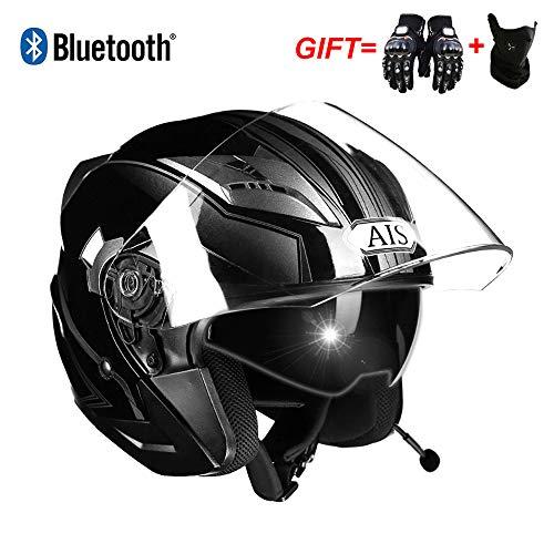 LMJ-QXhat Casco Motocicleta Modular Bluetooth Integrado