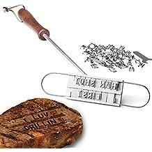 Dealglad® Griglia per Barbecue BBQ Branding Iron 54 rimovibile con lettere da carne per hamburger da bistecca Set di utensili per Barbecue