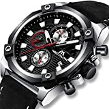 Best Designer Watches - Mens Watches Men Military Chronograph Black Sports Waterproof Review