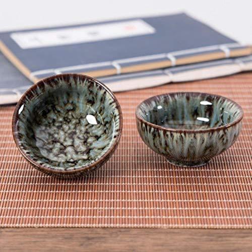 LALY A SHOPCoupe de riz à Lapin Change de Four glaçage Tianmu Service à thé Kungfu SimpleGrande céramique Domestique, 7, 200 ml - 231 Coupe