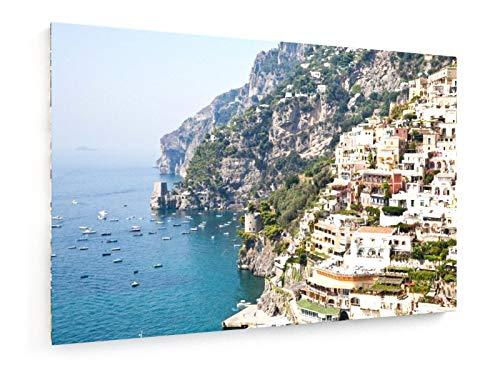 Preisvergleich Produktbild Positano,  Italien - 30x20 cm - Leinwandbild auf Keilrahmen - Wand-Bild - Kunst,  Gemälde,  Foto,  Bild auf Leinwand - Städte & Reise